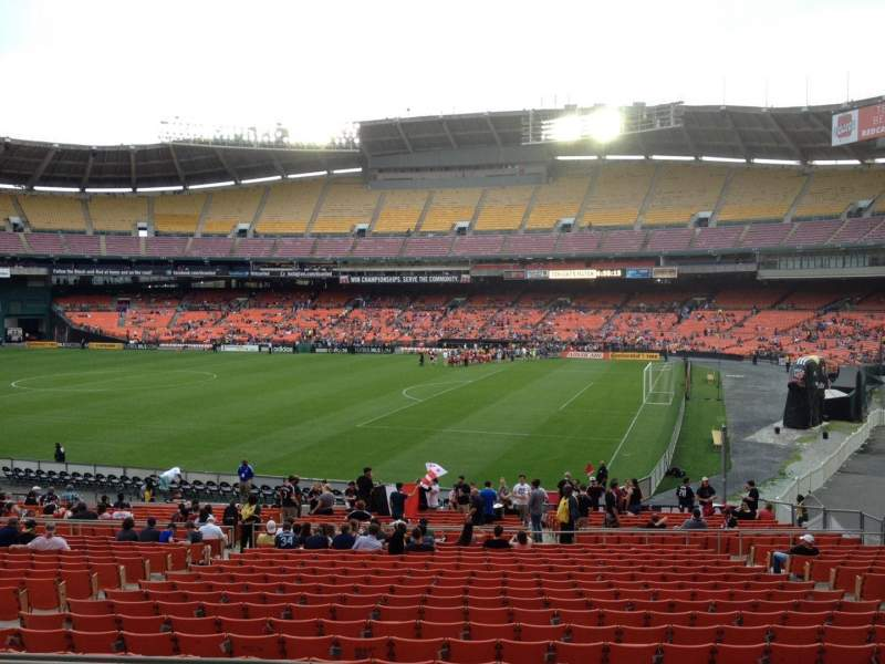 Seating view for RFK Stadium Section 328 Row 6 Seat 14
