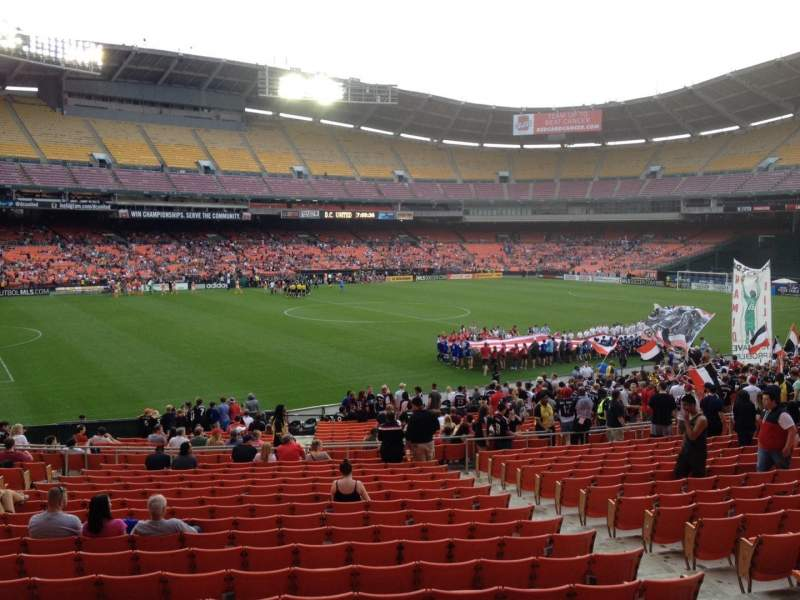 Seating view for RFK Stadium Section 337 Row 3 Seat 7