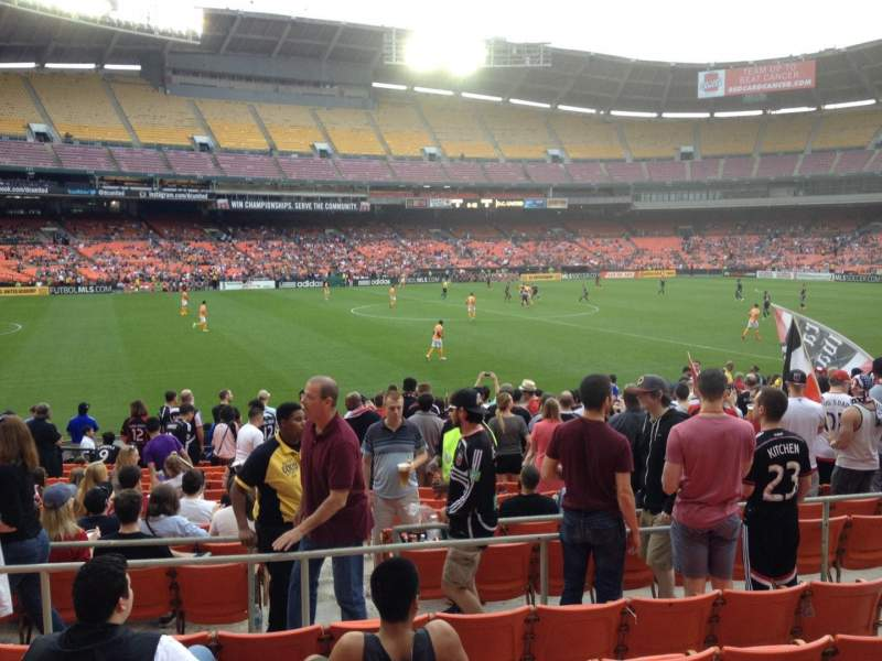 Seating view for RFK Stadium Section 236 Row 6 Seat 7