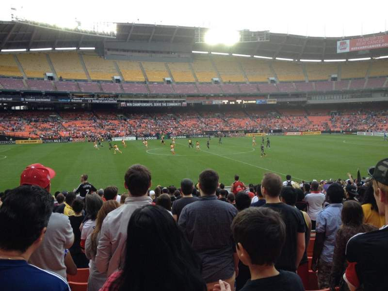 Seating view for RFK Stadium Section 235 Row 8 Seat 11
