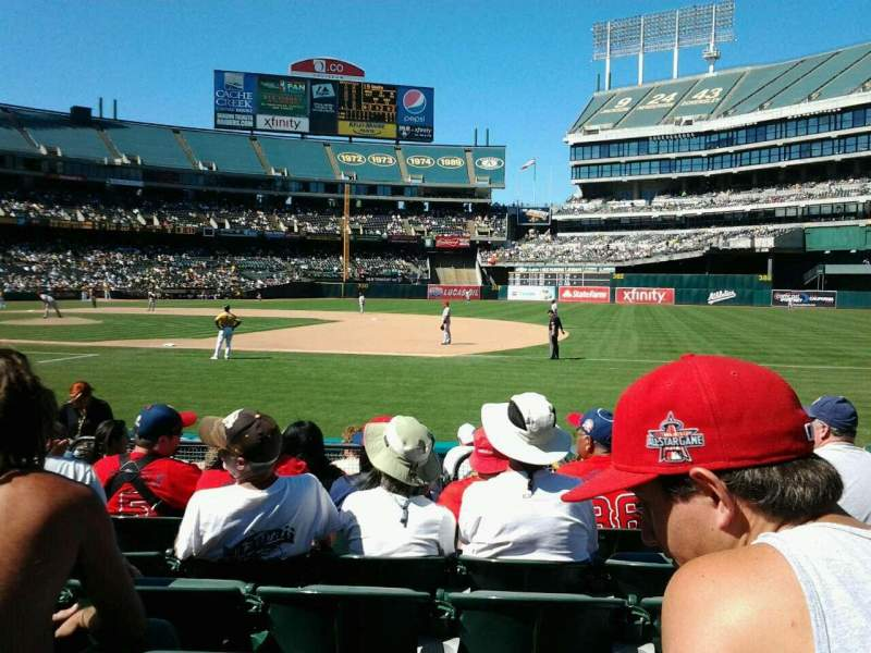 Seating view for Oakland Alameda Coliseum Section 107 Row 7 Seat 6