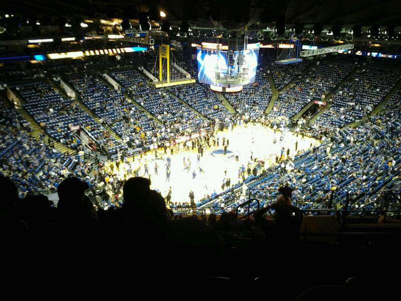 Seating view for Oracle Arena Section 221 Row 13 Seat 3
