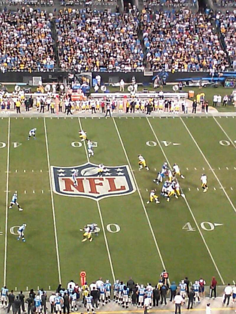 Seating view for Bank of America Stadium Section 542 Row 17 Seat 21