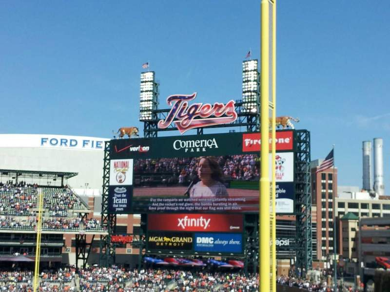 Seating view for Comerica Park Section 211 Row 3 Seat 4