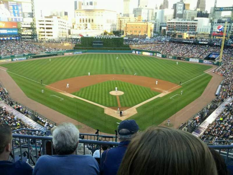 Seating view for Comerica Park Section 328 Row 3 Seat 11