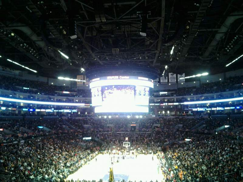 Seating view for Staples Center Section 207 Row 11 Seat 12