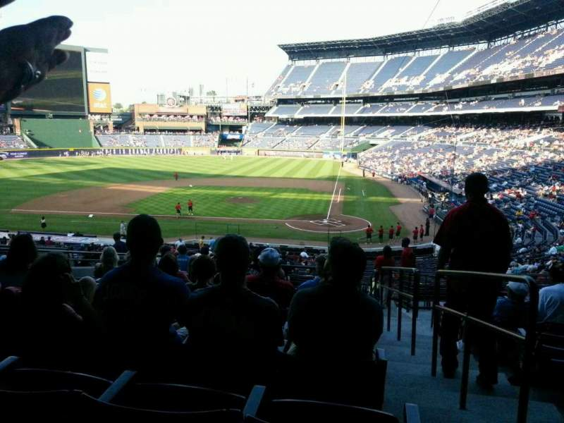 Seating view for Turner Field Section 206 Row 12 Seat 101