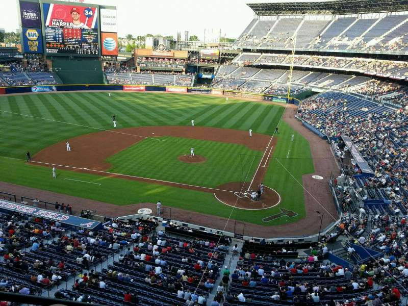 Seating view for Turner Field Section suite 14