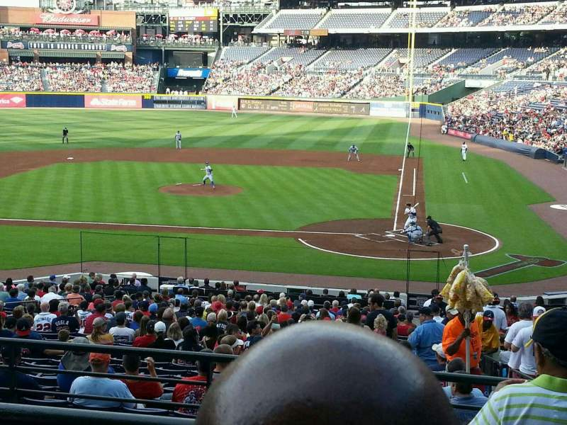 Seating view for Turner Field Section 206L Row 2 Seat 101