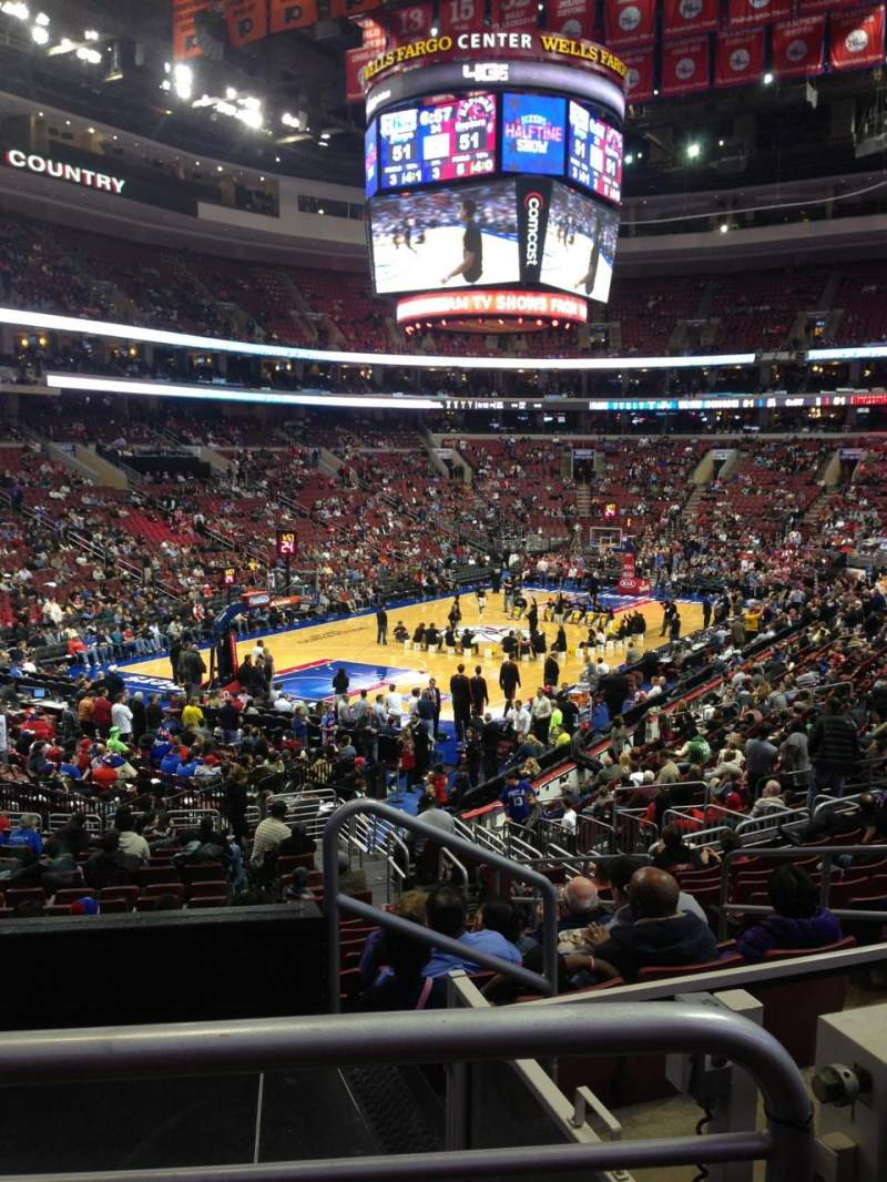 Seating view for Wells Fargo Center Section 121 Row 22 Seat 21