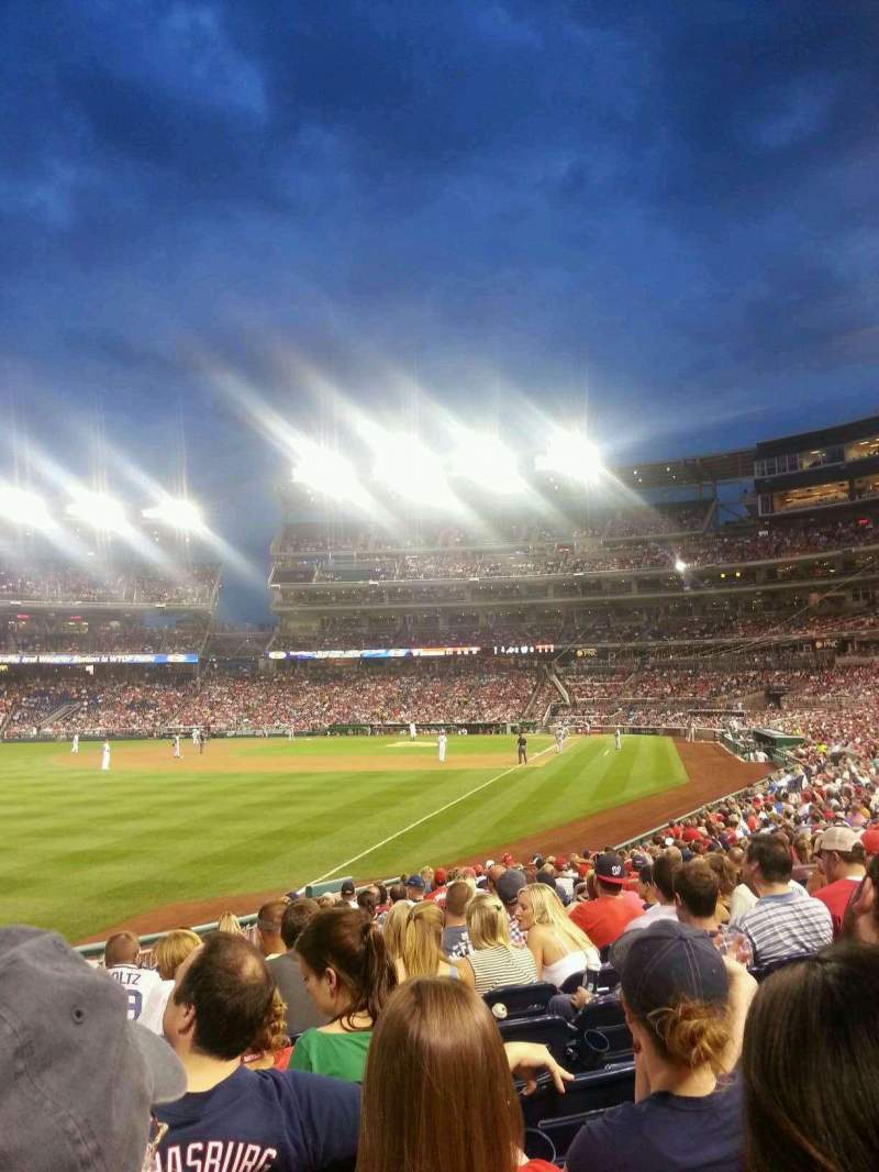 Seating view for Nationals Park Section 108 Row W Seat 14