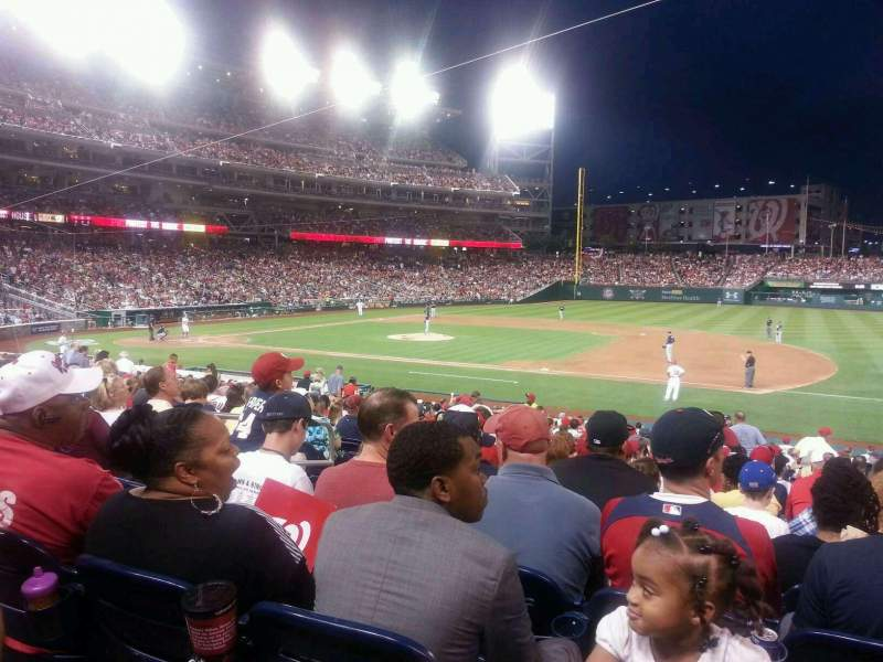 Seating view for Nationals Park Section 131 Row EE Seat 15