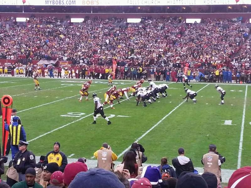 Seating view for FedEx Field Section 118 Row 8 Seat 18