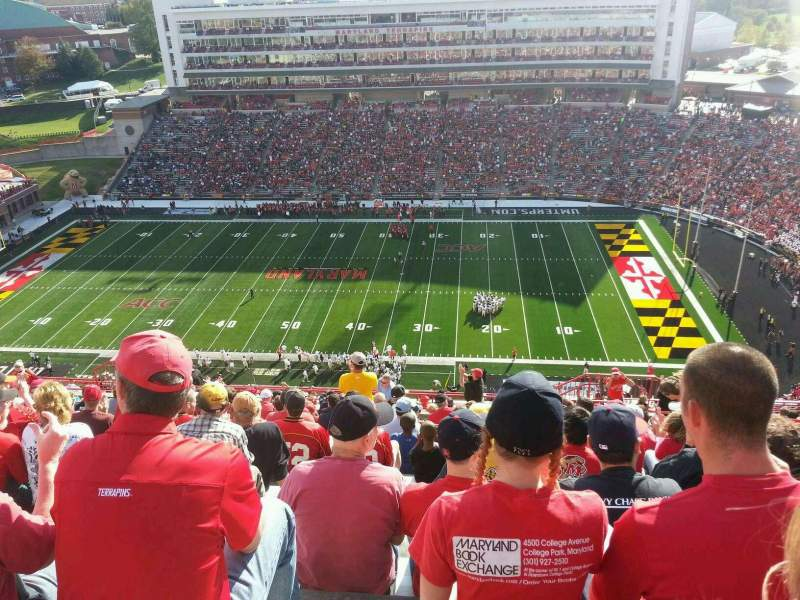 Seating view for Maryland Stadium Section 308 Row W Seat 4