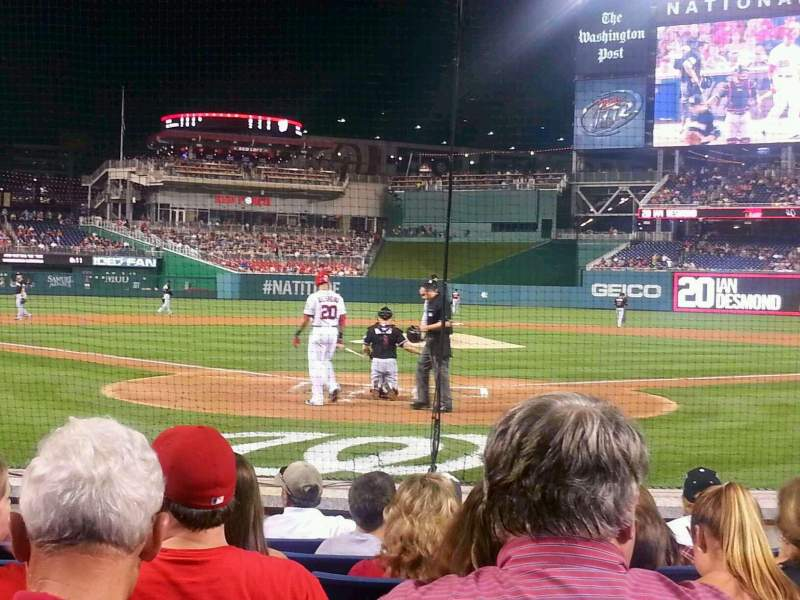 Seating view for Nationals Park Section Presidents Club C Row G Seat 8
