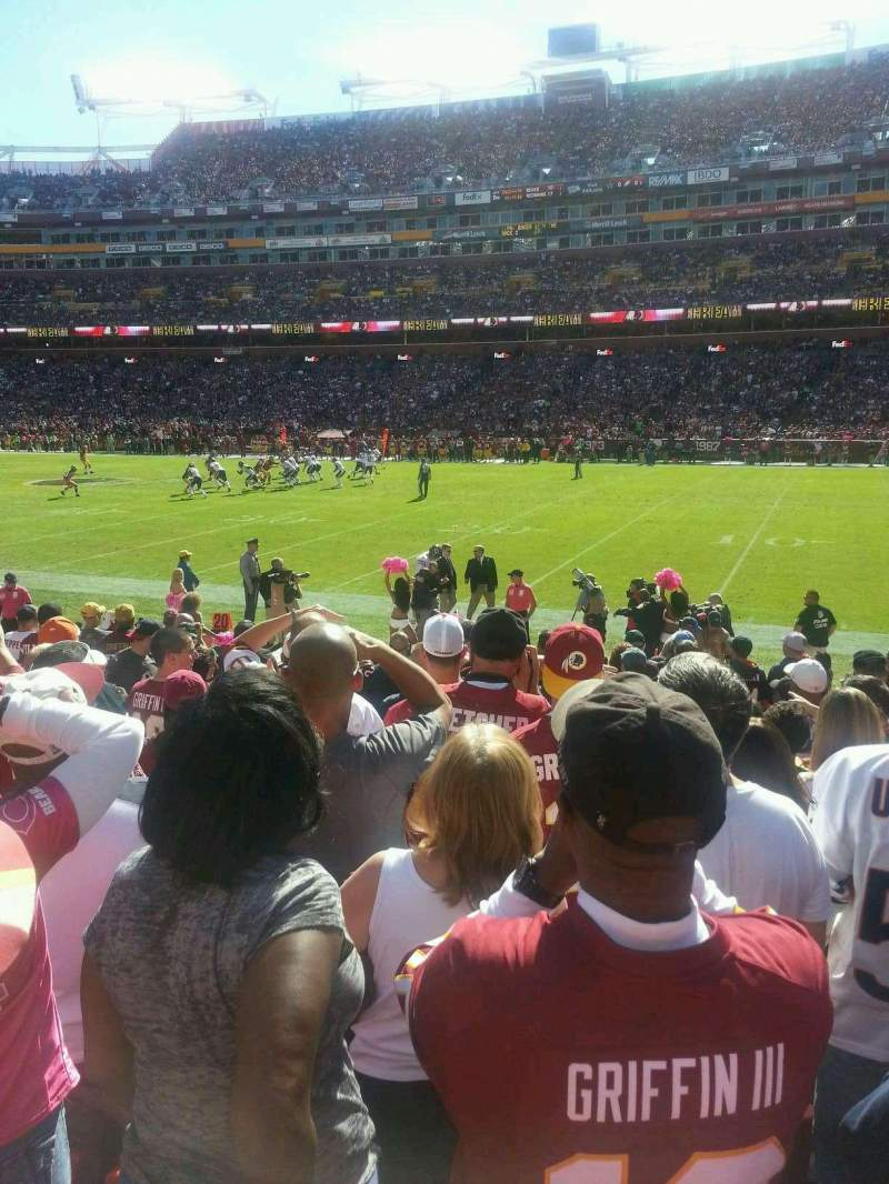 Seating view for FedEx Field Section 118 Row 10 Seat 16