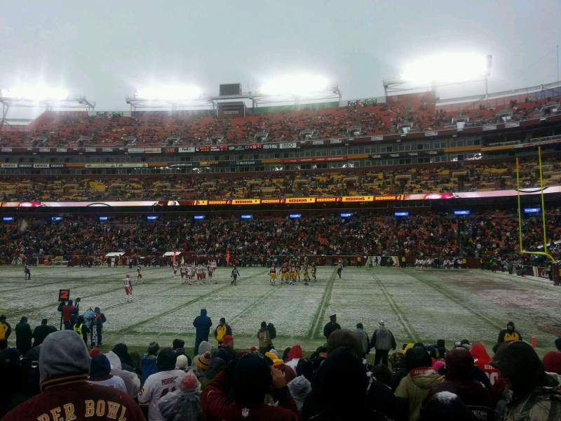 Seating view for FedEx Field Section 118 Row 10 Seat 18