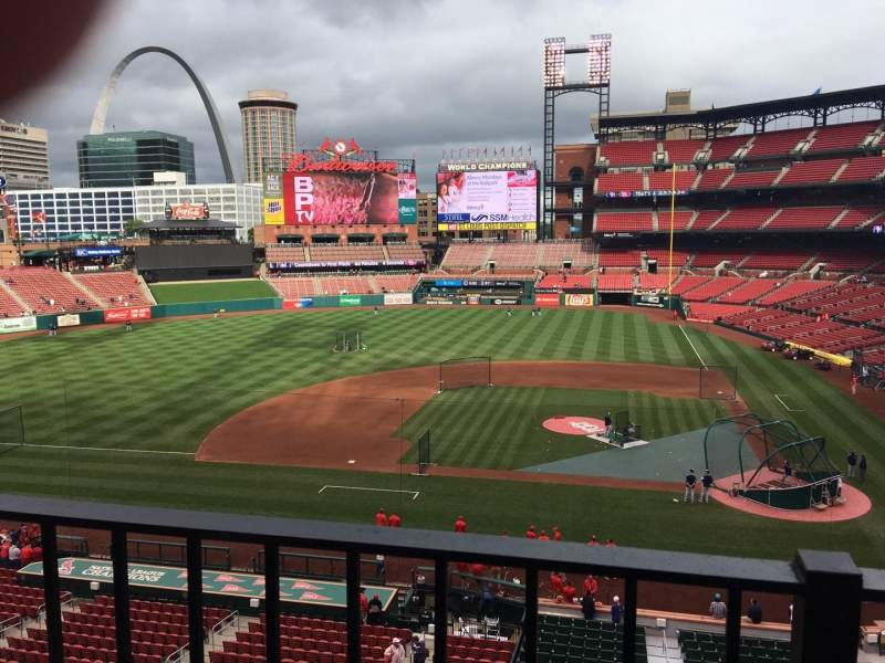 Seating view for Busch Stadium Section 255 Row 1 Seat 3