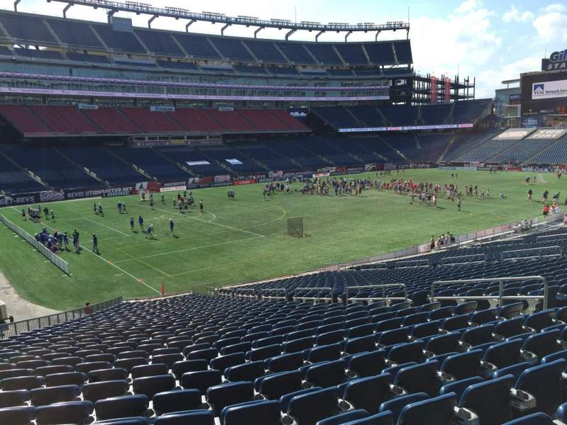 Seating view for Gillette Stadium Section 115 Row 34 Seat 12