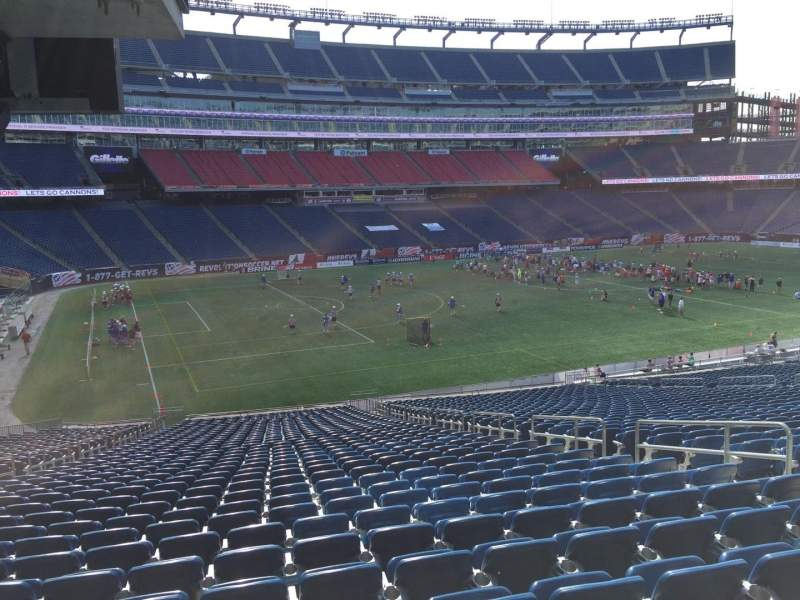 Seating view for Gillette Stadium Section 114 Row 38 Seat 8