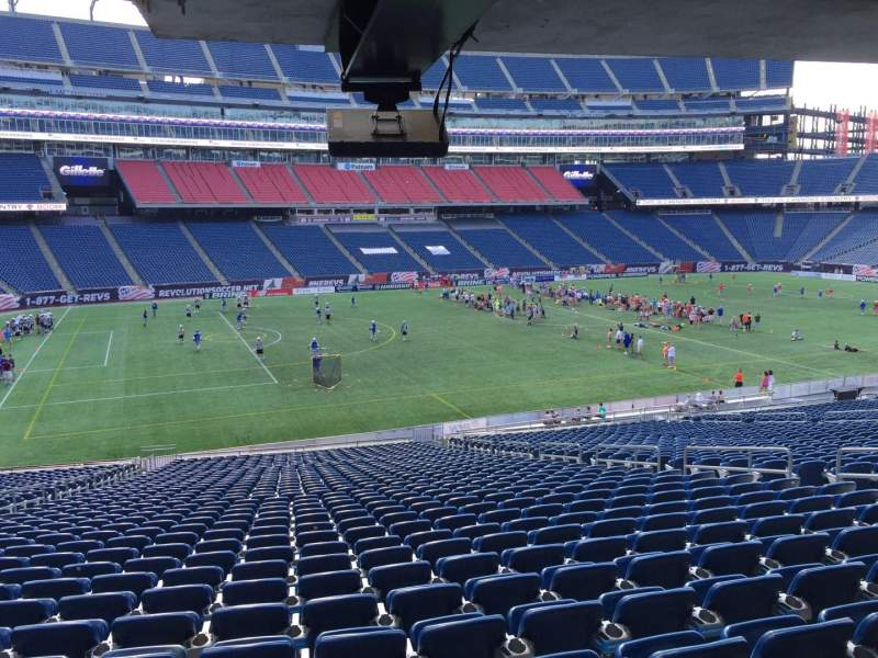 Seating view for Gillette Stadium Section 113 Row 38 Seat 12