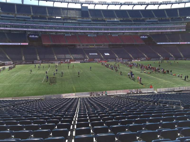 Seating view for Gillette Stadium Section 112 Row 34 Seat 12