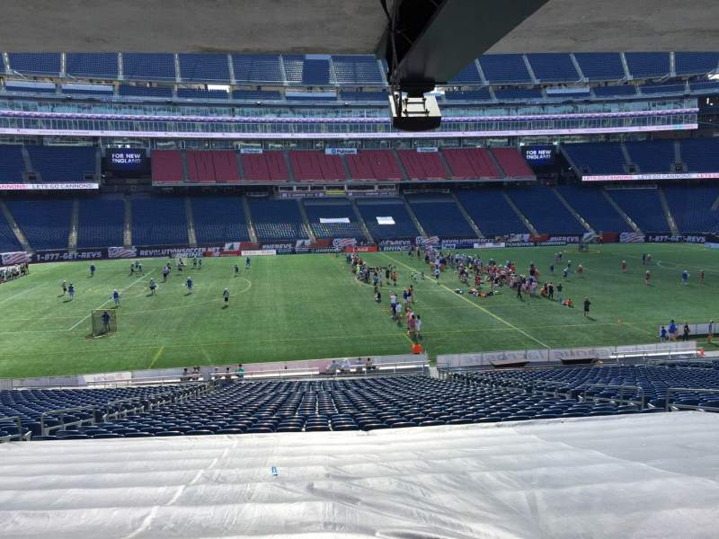 Seating view for Gillette Stadium Section 111 Row 38 Seat 10