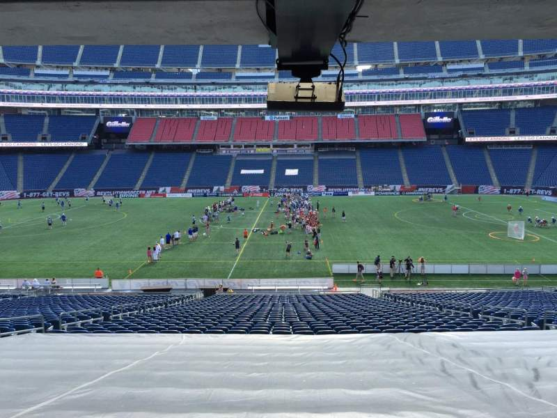 Seating view for Gillette Stadium Section 109 Row 38 Seat 12