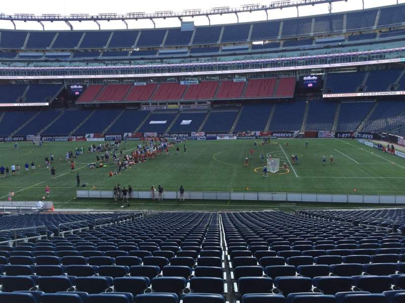 Seating view for Gillette Stadium Section 107 Row 34 Seat 12