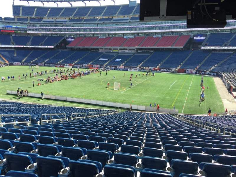 Seating view for Gillette Stadium Section 105 Row 38 Seat 9