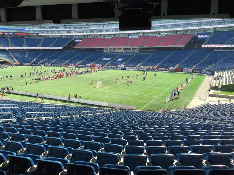 Seating view for Gillette Stadium Section 104 Row 38 Seat 12