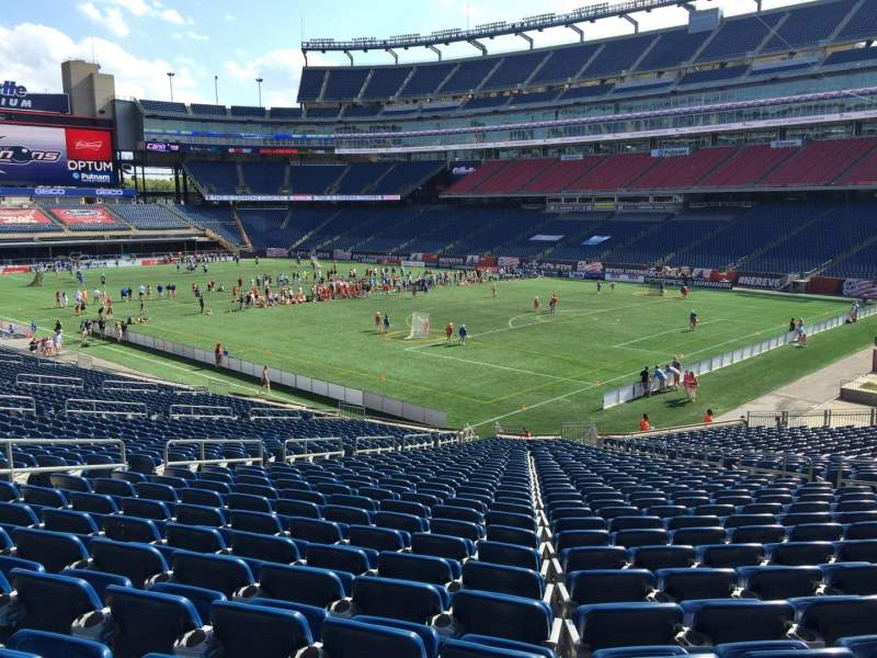 Seating view for Gillette Stadium Section 103 Row 34 Seat 13