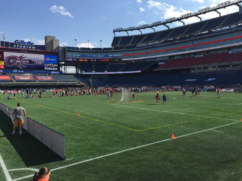 Seating view for Gillette Stadium Section 103 Row 1 Seat 3