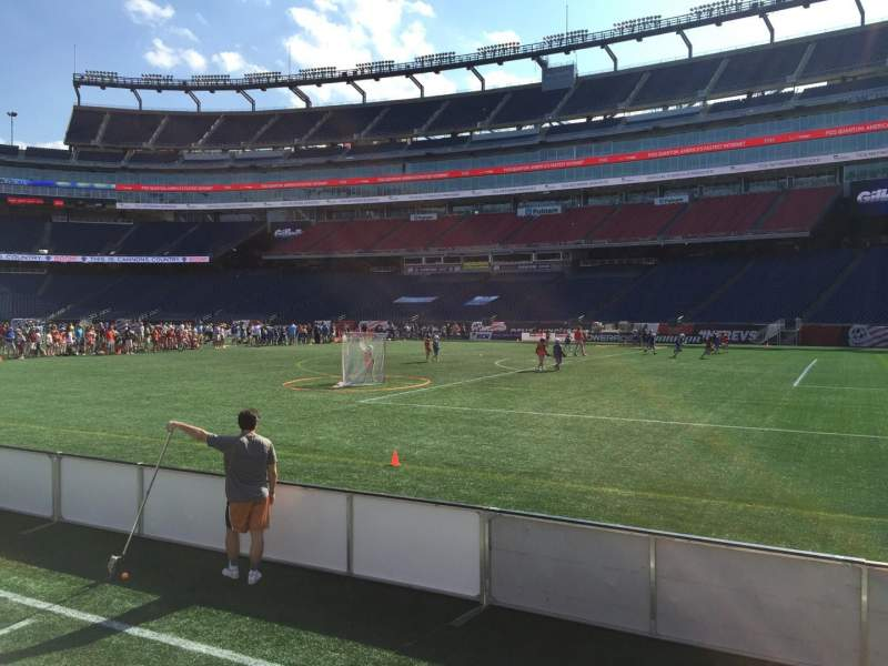 Seating view for Gillette Stadium Section 105 Row 1 Seat 5
