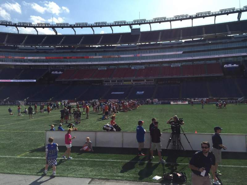 Seating view for Gillette Stadium Section 108 Row 1 Seat 11