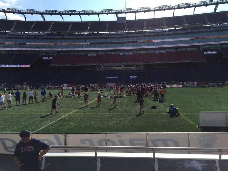 Seating view for Gillette Stadium Section 109 Row 1 Seat 12