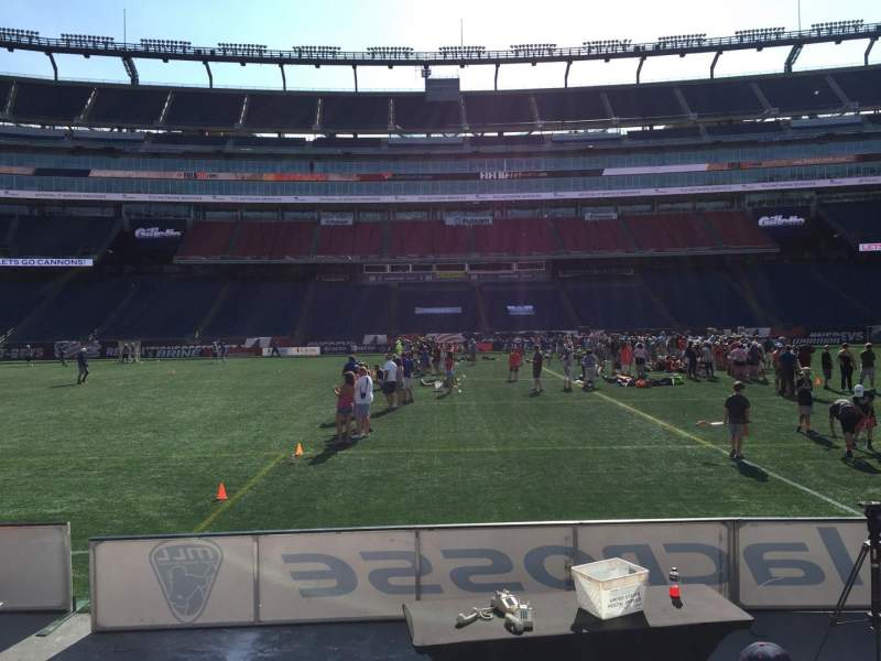 Seating view for Gillette Stadium Section 110 Row 1 Seat 11