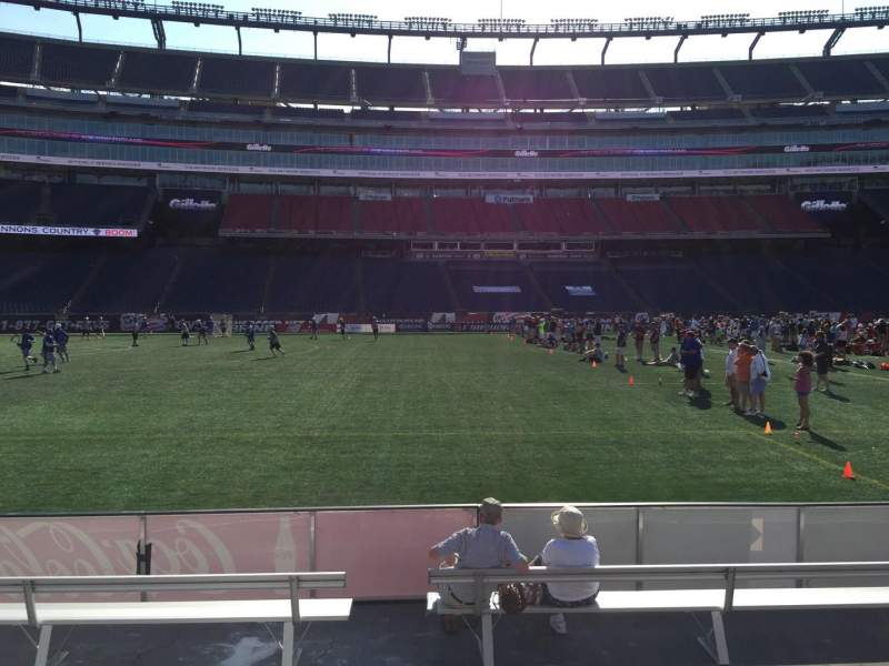 Seating view for Gillette Stadium Section 111 Row 1 Seat 13