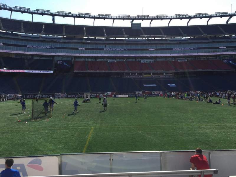 Seating view for Gillette Stadium Section 112 Row 1 Seat 12