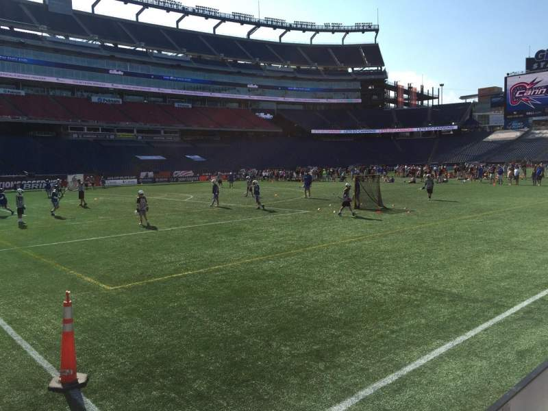 Seating view for Gillette Stadium Section 115 Row 1 Seat 4