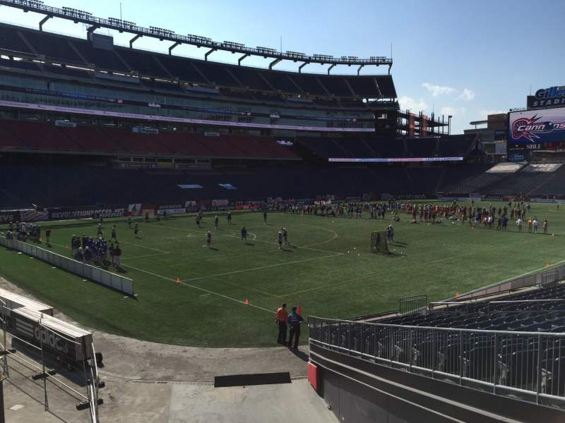 Seating view for Gillette Stadium Section 116 Row 20 Seat 8