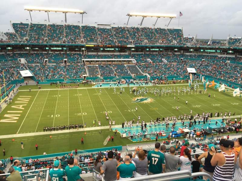 Seating view for Hard Rock Stadium Section 321 Row 12 Seat 1