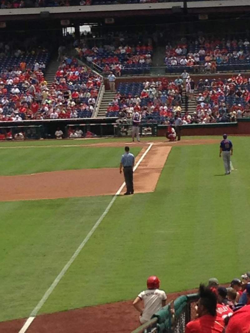 Seating view for Citizens Bank Park Section 140 Row 8 Seat 2