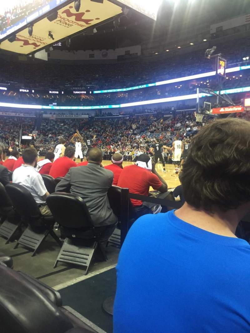 Seating view for Smoothie King Center Section 111 Row 3 Seat 2