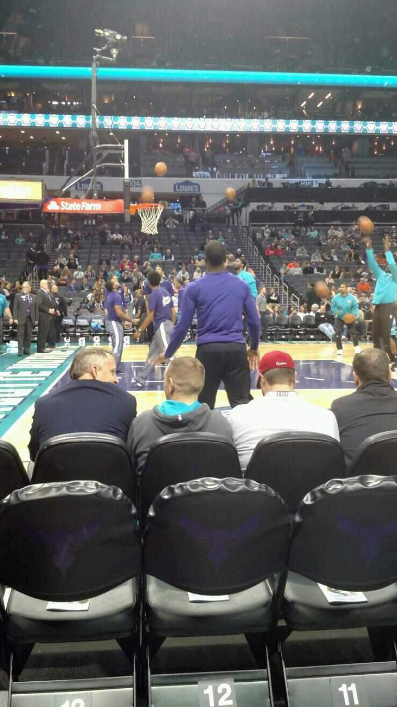 Seating view for Spectrum Center Section 115 Row A2 Seat 12
