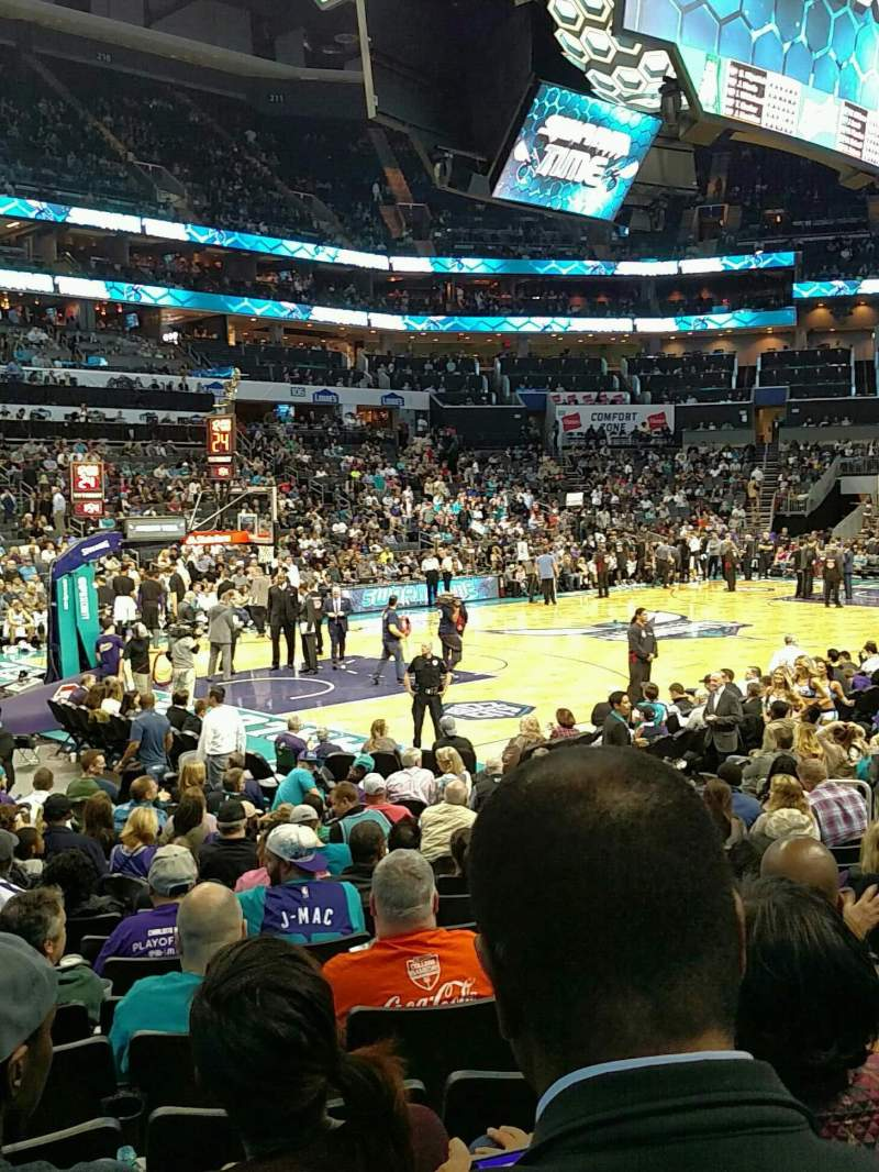 Seating view for Spectrum Center Section 116 Row L Seat 19