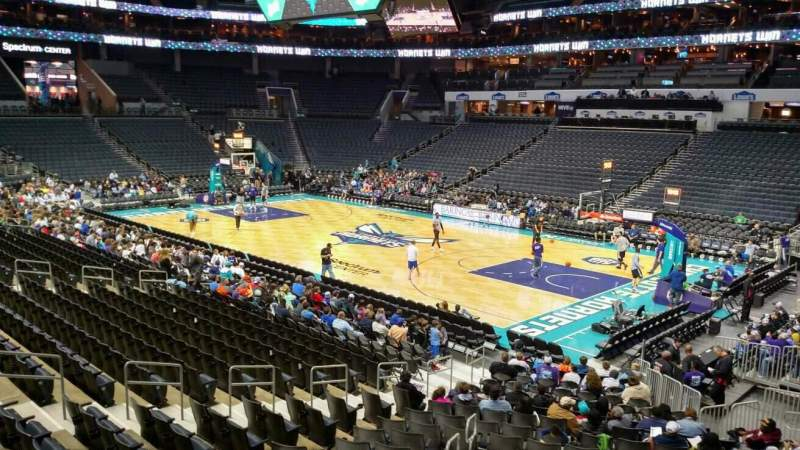 Seating view for Spectrum Center Section 112 Row Q Seat 18