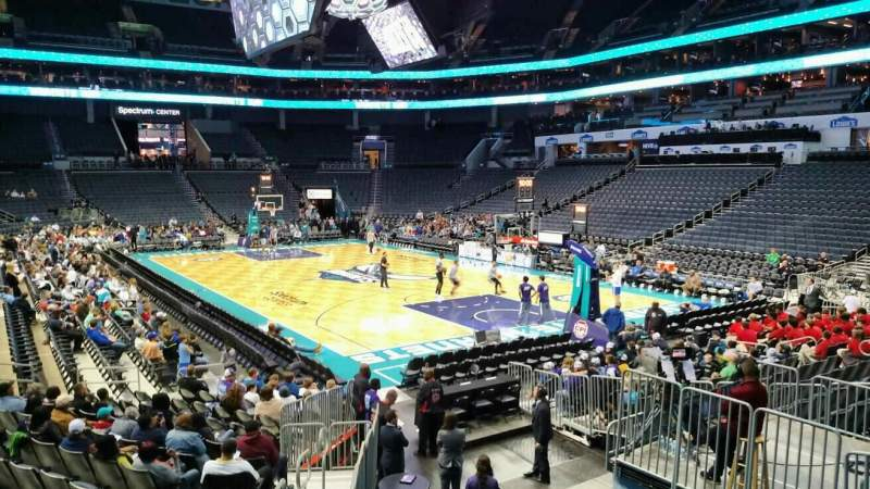 Seating view for Spectrum Center Section 111 Row O Seat 12