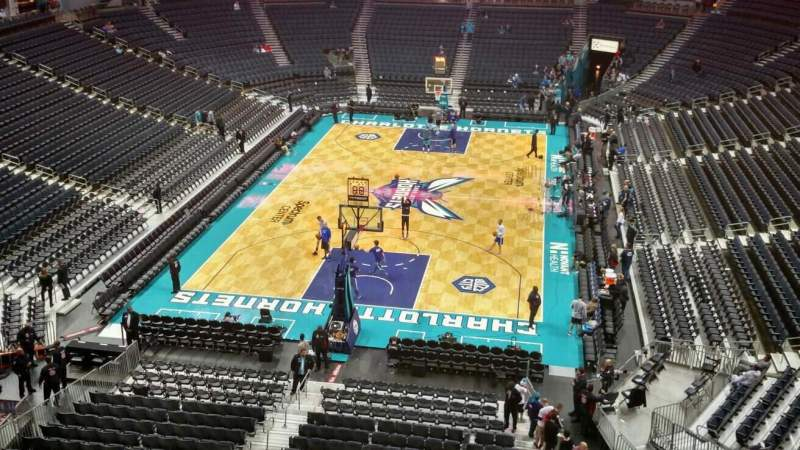 Seating view for Spectrum Center Section 216 Row A1 Seat 18