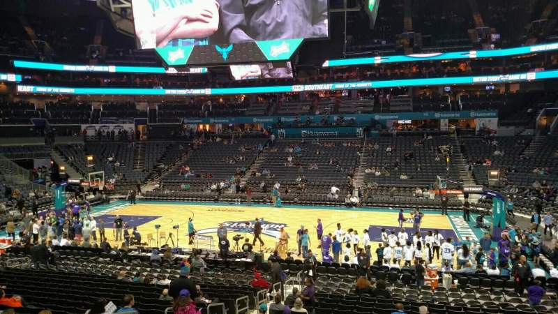 Seating view for Spectrum Center Section Lounge North